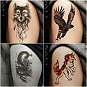 cheap Temporary Tattoos-10 pcs Temporary Tattoos Totem Series / Animal Series Smooth Sticker / Safety Body Arts Arm / Decal-style temporary tattoos