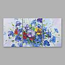 levne Abstraktní malby-Hang-malované olejomalba Ručně malované - Abstraktní Moderní Obsahovat vnitřní rám / Tři panely / Reprodukce plátna