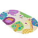 olcso Lábtörlők és szőnyegek-1db Rajzfilmfigura Fürdőszoba gyékényszőnyegek PVC Állat Ovális Szeretetreméltő