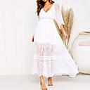 זול נעליים לטיניות-א-סימטרי פסים - שמלה שיפון שרוול פנס בגדי ריקוד נשים