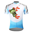 cheap Wall Stickers-ILPALADINO Men's Short Sleeve Cycling Jersey - Blue Frog Bike Jersey Top, Breathable Quick Dry Ultraviolet Resistant Polyester 100% Polyester Terylene / Stretchy