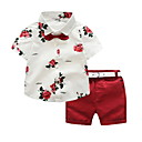 cheap Boys' Clothing Sets-Kids Boys' Solid Colored / Floral Short Sleeve Clothing Set