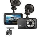 ieftine DVR Mașină-T638+ 720p / 1080p Model nou / Cool / Dual Lens Car DVR 170 Grade Unghi larg ≤3 inch LTPS Dash Cam cu Vedere nocturnă / G-Sensor / Mod de Parcare Nu Car recorder