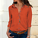 זול בגדי ים לבנות-אחיד בסיסי חולצה - בגדי ריקוד נשים