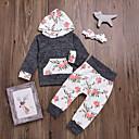 tanie Zestawy ubrań dla niemowląt-Dziecko Dla dziewczynek Kwiaty Długi rękaw Komplet odzieży