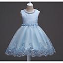 preiswerte Haar Accessoires-Kinder Mädchen Süß Solide Kurzarm Kleid Weiß