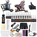 cheap Starter Tattoo Kits-Solong Tattoo Tattoo Machine Starter Kit - 2 pcs Tattoo Machines with 28 x 5 ml tattoo inks, Professional Mini power supply Case Not Included 2 alloy machine liner & shader