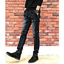 tanie Słuchawki i zestawy słuchawkowe-Męskie Moda miejska Jeansy Spodnie Solidne kolory
