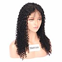 cheap Human Hair Wigs-Remy Human Hair Full Lace Wig Brazilian Hair Curly Wig Middle Part 130% Hair Density Women Black Women's Long Human Hair Lace Wig Sunwell