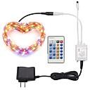 billige LED-stringlys-ZDM® 10 m Lyssett 100 LED SMD 0603 1 24Kjør fjernkontrollen / 1 x 12V / 1A adapter Varm hvit / Kjølig hvit / Rød Vanntett / Dekorativ 100-240 V 1set