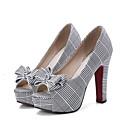 ราคาถูก รองเท้าส้นสูงผู้หญิง-สำหรับผู้หญิง รองเท้าส้นสูง PU ฤดูใบไม้ผลิ รองเท้าส้นสูง ส้นหนา แดง / สีเขียว / ทุกวัน