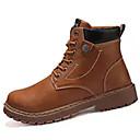 hesapli Erkek Botları-Erkek Ayakkabı PU Sonbahar Günlük Çizmeler Yarı-Diz Boyu Çizmeler Günlük için Siyah / Kahverengi / Haki / Combat Botları