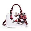 cheap Eyeshadows-Women's Bags PU(Polyurethane) Tote Floral Print Red / Beige / Purple