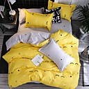 povoljno Cvjetni poplune-pokrivni poklopac postavlja suvremeni poli / pamuk reaktivni tisak 4 komad posteljine setovi / 300 / 4pcs (1 pokrivač, 1 ravna ploča, 2 šamta) kralj