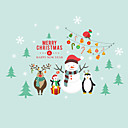 זול מדבקות העברת מים-מדבקות קיר דקורטיביות - מדבקות קיר מטוס / מדבקות קיר הולידיי Christmas / חג חדר ילדים / טבע
