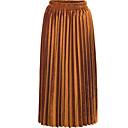 cheap Hair Braids-Women's Basic Maxi A Line Skirts - Solid Colored