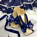 preiswerte Haarteil-Klassisch Retro Flacher Absatz Druck Schleife 5 cm CM Tintenblau / Blau / Rosa Für Sonstiges Material Baumwollstoff Halloween Kostüme