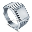 cheap Men's Bracelets-Men's Layered Classic Ring - Stainless Creative Stylish, Simple, European 9 / 10 / 11 / 12 Silver For Daily Street