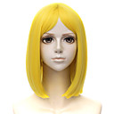 cheap Synthetic Capless Wigs-Cosplay Wigs / Synthetic Wig Men's Straight Blonde Layered Haircut Synthetic Hair 14 inch Cosplay Blonde Wig Short Capless Yellow