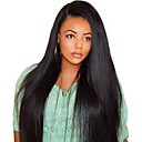 cheap Human Hair Wigs-Human Hair Full Lace Wig style Brazilian Hair Burmese Hair Straight Natural Black Wig 130% Density with Baby Hair Women Easy dressing Best Quality Hot Sale Natural Natural Black Women's Long Human