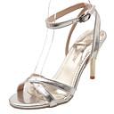 povoljno Ženske sandale-Žene Sandale Udobne cipele Stiletto potpetica PU Proljeće Zlato / Pink / Crvena