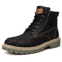 cheap Men's Boots-Men's Combat Boots Faux Leather Fall & Winter Casual Boots Gray / Brown / Red