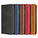 cheap iPhone Cases-Case For Apple iPhone XR XS XS Max Card Holder / with Stand Cases Solid Colored Hard Genuine Leather for iPhone X 8 8 Plus 7 7plus 6s 6s Plus SE 5 5S