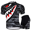 cheap Cycling Jersey & Shorts / Pants Sets-Nuckily Men's / Women's Short Sleeve Cycling Jersey with Shorts - Gray / Green Plus Size Bike Shorts / Jersey / Padded Shorts / Chamois, Waterproof, Breathable, 3D Pad, Ultraviolet Resistant