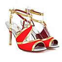 cheap Women's Heels-Women's Comfort Shoes Satin Summer Heels Stiletto Heel White / Black / Red / Daily