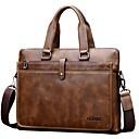 cheap Totes-Men's Bags PU(Polyurethane) Briefcase Zipper Black / Brown