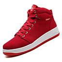 ราคาถูก รองเท้าผ้าใบผู้ชาย-สำหรับผู้ชาย รองเท้าสบาย ๆ PU ตก ไม่เป็นทางการ รองเท้าผ้าใบ ไม่ลื่นไถล สีดำ / สีเทา / แดง