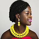 baratos Colares-Mulheres Camadas Conjunto de jóias - Bola Fashion Incluir Strands Necklace Azul / Rosa / Champanhe Para Festa Diário