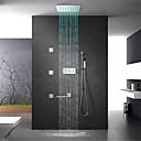 billige LED Dusjhoder-Dusjkran - moderne krom veggmontert messingventil ledet