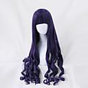 abordables Pelucas Cosplay-Cardcaptor Sakura Daidouji Tomoyo Mujer 32 pulgada Fibra resistente al calor Azul Animé Pelucas de Cosplay