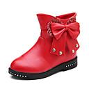 ieftine Pantofi Fetițe-Fete Pantofi PU Iarnă / Toamna iarna Cizme la Modă Cizme Plimbare Piatră Semiprețioasă / Funde / Bandă Magică pentru Copii / Adolescent Negru / Rosu / Roz / Cizme Medii / Bloc Culoare