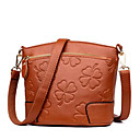 ieftine Genți Umeri-Pentru femei Genți PU Umăr Bag Embosat Print Floral Gri / Mov / Maro Închis