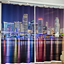 cheap 3D Curtains-Modern 3D Curtains Two Panels Curtain / Blackout / Bedroom