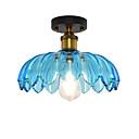 abordables Lámparas Colgantes-Europa del norte moderno techo de cristal vintage forma de loto vidrio sala de estar comedor pasillo empotrado montaje luz