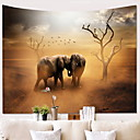 baratos Tapeçarias de parede-Elefante Decoração de Parede 100% Poliéster Clássico Arte de Parede, Tapetes de parede Decoração