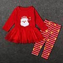 ieftine Pantaloni Fete & Leginși-Copii / Copil Fete Dungi Manșon Lung Set Îmbrăcăminte