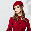 cheap Party Headpieces-100% Wool Hats with Bowknot 1pc Casual / Daily Wear Headpiece
