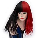 abordables Pelucas para Disfraz-Pelucas de cosplay / Pelucas sintéticas Mujer Rizado Rojo Parte media Pelo sintético 18 pulgada Diseños de Moda / Cosplay Rojo / Negro Peluca Larga Sin Tapa Negro / Rojo