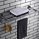 billige Syntetiske parykker med blonde-Håndklestang / Hylle til badeværelset Nytt Design Moderne Rustfritt stål 1pc 4-håndkle bar Vægmonteret