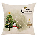 cheap Pillow Covers-Pillow Cover Christmas Cotton Fabric Square Cartoon / Party Christmas Decoration