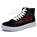 cheap Men's Sneakers-Men's Comfort Shoes PU(Polyurethane) Fall Casual Sneakers Wear Proof Black / Black / Gold / Black / Red
