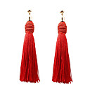 cheap Necklaces-Women's Tassel Drop Earrings - Simple, European, Fashion Blue / Pink / Wine For Causal Daily