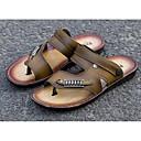رخيصةأون صنادل رجالي-للرجال أحذية الراحة مجهرية صيف صنادل بني / كاكي