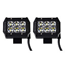 cheap Vehicle Working Light-KAWELL 2pcs SUV / ATV / Tractor Light Bulbs 18 W 1260 lm 6 LED Working Light