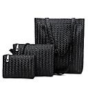 preiswerte Taschensets-Damen Reißverschluss Bag Set Beutel Sets PU 3 Stück Geldbörse Set Schwarz / Braun / Khaki