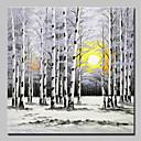 olcso Tájképek-Hang festett olajfestmény Kézzel festett - Landscape / Virágos / Botanikus Modern Vászon